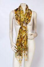 ALEXANDER MCQUEEN 2009 Jewel Skeleton Kaleidoscope Print Yellow Silk Scarf NEW