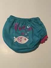SET of Diaper Covers And Baby Sun Hat Turquoise Blue Pink Infant Medium Small