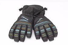 Dakine Girls Kids Tracker Winter Gloves Black Teal L 8-10 yrs