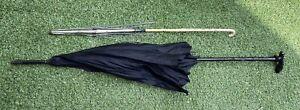 Edwardian Victorian Parasol Umbrella x 2 Black Bone Handle Restoration Spares