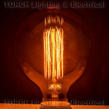 "NEW Vintage ""Edison Look"" CLASSIC BULB G40 Globe Vertical Filament Lamp Light"