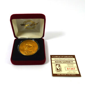 Highland Mint Kevin Garnett Bronze Coin # out of 25,000