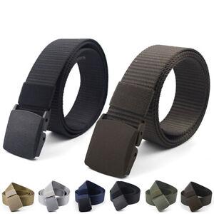 Mens Nylon Outdoor Training Belt Heavy Duty Waist Strap Plastic Buckle