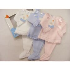 Spanish 2 piece Baby Girls Pink Knitted Suit - VB by Juliana (Boxed)
