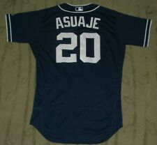SAN DIEGO PADRES CARLOS ASUAJE GAME USED WORN 2018 ALTERNATE ROAD JERSEY