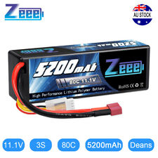 5200mAh 80C 3S 11.1V Deans Hardcase LiPo Battery for RC Car Helicopter Airplane