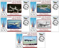 PAN AM AIRLINES CENTENARY OF FLIGHT SET OF 5 COVERS