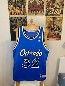 VTG 90's Orlando Magic NBA Shaquille O'Neal champion jersey