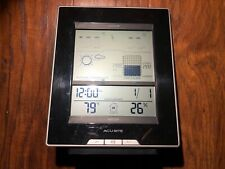 AcuRite Deluxe Wireless Weather Center Forecast Temperature Humidity Clock *READ