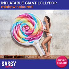 NEW Inflatable Lollypop Pool Float Giant Lollipop Blow Up Toy Airmat Lounge Raft