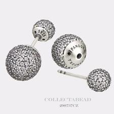 Authentic PANDORA Pave Drops Earrings Clear CZ 290737CZ
