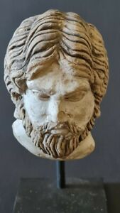 Persian Head carved in soft stone