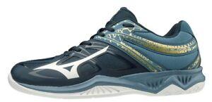 Mizuno Thunder Blade 2 Dark Blue / Gold Volleyball Squash Indoor Court Trainers