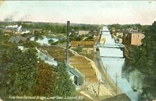 Lockport,NY View from Railroad Bridge Lower Town