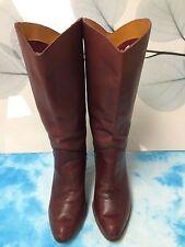 Vintage Burgundy Cowboy Boots Women's 8 B
