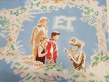 VTG E.T. twin flat bed sheet 1982 universal city studios cotton polyester fabric