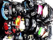 50pcs mix styles leather men's WOMEN fashion bracelets jewelry lots wholesale