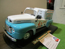 FORD F-1 ICE CREAM TRUCK GLACIER 1/18 YATMING 92229 voiture miniature collection