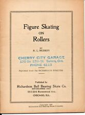 Figure Skating On Rollers Richardson Ball Bearing Skate Co. 1939 Salem Or