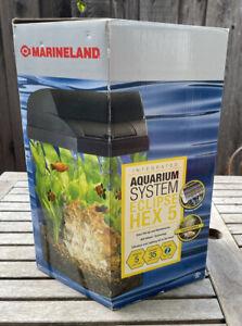 Brand New Marineland Eclipse HEX 5 Complete 5-gallon  Hex Aquarium