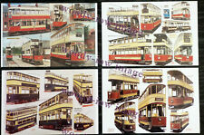 bu045 - 4 artist postcards of Trams by G S Cooper - Mint Condition