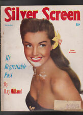 Silver Screen November 1950 Ray Milland Esther Williams Abbott & Costello