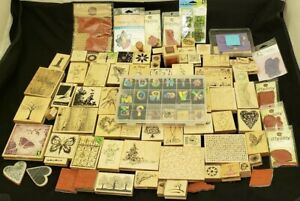 Huge 135+ Wood Rubber Stamp Collection Lot / Penny Black, Stampabilities, etc