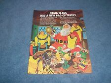 1973 Yamaha Motorcycle Parts Vintage Christmas Ad Yama Claus Has A Bag of Tricks