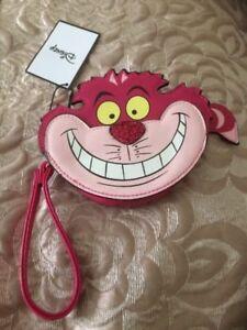 Primark Disney Alice In Wonderland Purse Cheshire Cat Purse BNWT Zip Coin Handle