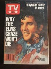 TV Guide January 1985 Why the Elvis Presley Craze Wont Die No Label