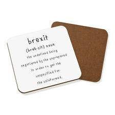 Brexit The Undefined Coaster Drinks Mat Funny Political Joke Britain Europe EU