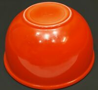 "Vintage Fire King RED ORANGE Mixing Nesting Bowl - 8 1/2"""
