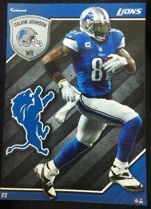 NFL Fathead Tradeables Calvin Johnson Detroit Lions 2015