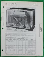 Original 1946 Sams Photofact Lincoln Radio Model S13L-B