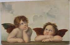 Rare Picture Postcards depicting TWO ANGELS from masterpiece painting of Raphael