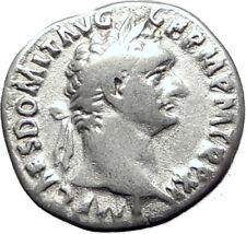 DOMITIAN son of Vespasian 87AD Silver Ancient Roman Coin Athena Minerva i65089