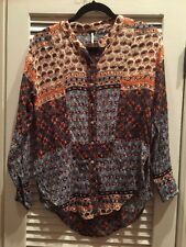 Free People Floral Boho Patchwork Ethnic Top NWOT S