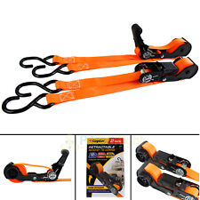 Retractable S-Hook Ratchet Tie Downs 12' 2 Pack CargoLoc Rubber Handle 84050