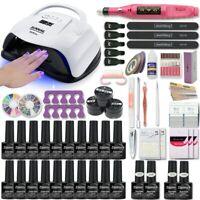 Starter Nail Kit Set UV LED Lamp Dryer Gel Polish Gift Manicure Soak Off DIY Art