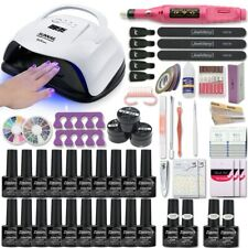 Starter Nail Kit Set UV LED Lamp Dryer Gel Polish Gift Manicure Soak Off DIY Art