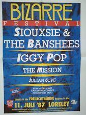 IGGY POP - THE MISSION 1987   + orig.Concert Poster -- Konzert Plakat  TOP 23