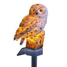 Garden Solar White Owl LED Light Keeps Pests Away Outdoor Decor Lawn Bird New