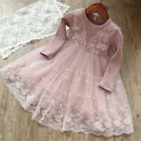 Toddler Baby Girl Lace Flower Princess Tulle Party Pageant Dresses Clothes US