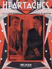 Heartaches, Gene and Henn,  F.S. Manning Art, 1931