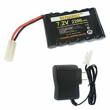 7.2V 2200mAh NiMH Rechargeable Cell Battery Pack Tamiya Plug Ultracell + Charger