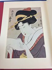 ***RARE Set of 6 Utamraro Japanese Block Printing by Famous Japanese Artist***