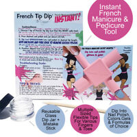 French Tip Dip Easy French Manicure Tool Use Nail Polish Formula Color Or Gels