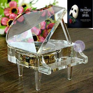 Transparent PIANO  MUSIC BOX :  Phantom Of The Opera - Masquerade