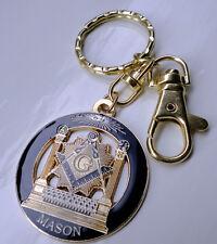 ZP32a All Seeing Eye Masonic Masons Keyring with G Geometry Freemason Unusual