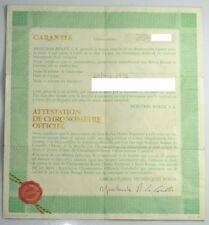 VINTAGE ROLEX 1655 EXPLORER II GARANTIE CERTIFICATE 1976